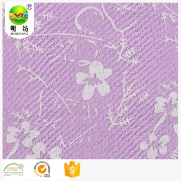 Cotton polyester custom interlock knit fabric printing