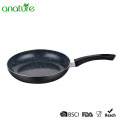 Marble Aluminum Pressed Black Induction Fry Pan