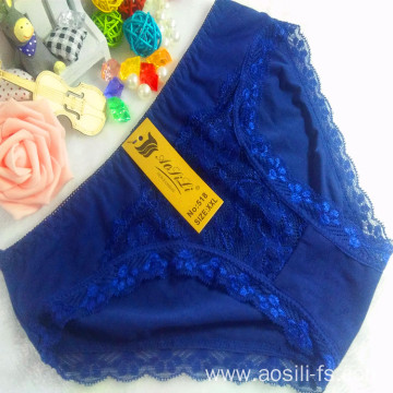 OEM wholesale China cheap blue sexy comfortable lace cotton fancy underwear 518