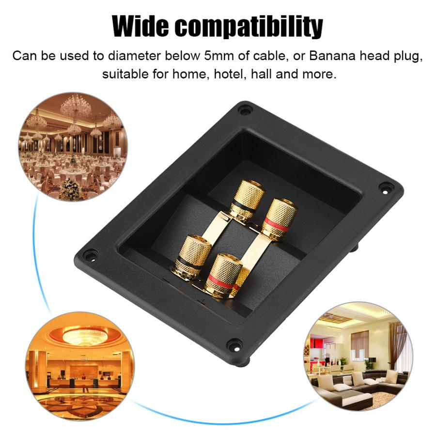 4 Copper Binding Post Terminal Cable Connector Speaker Terminal Box Acoustic Components Professional speaker accessories