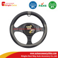 Gray Leather Steering Wheel Cover