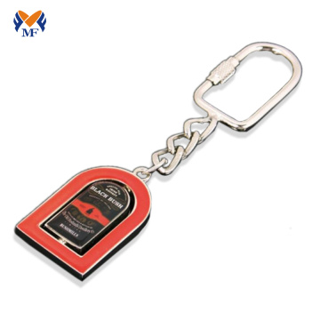 Metal keychain with name letters on line