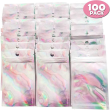 100Pcs Resealable Ziplock Bags Aluminum Foil Bag For Party Food Storage Nuts Candy Cookies Snack Ziplock Bags