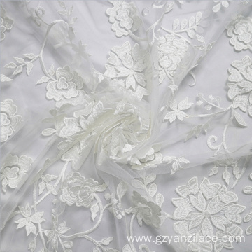 I-White Embroidery lace Africa Tulle Lace