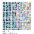 Molten glass modern smooth mosaic tiles