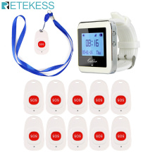 Retekess Call System Wireless Pagers Call Bell Emergency With SOS Button Transmitter For The Elderly F4466B