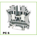 6mm2 DIN Rail Screw Cage Clamp Terminal Block