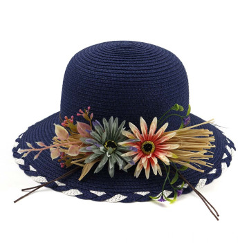 Hand-plaited straw articles beanie straw hat