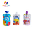 ECO Friendly Reusable Fruit Juice Pouches With Spout