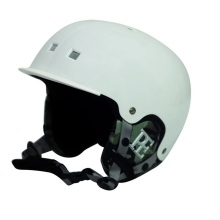 White and Black Winter sport Ski Helmet