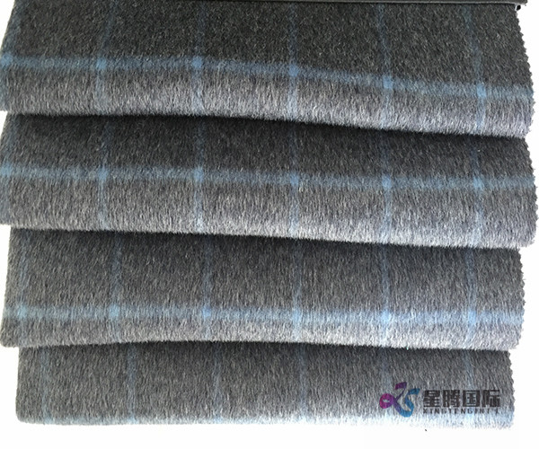 100% Wool Plaid Fabric For Suiting Clothing