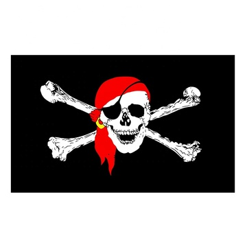 factory price Polyester outdoor custom fabric pirate flag