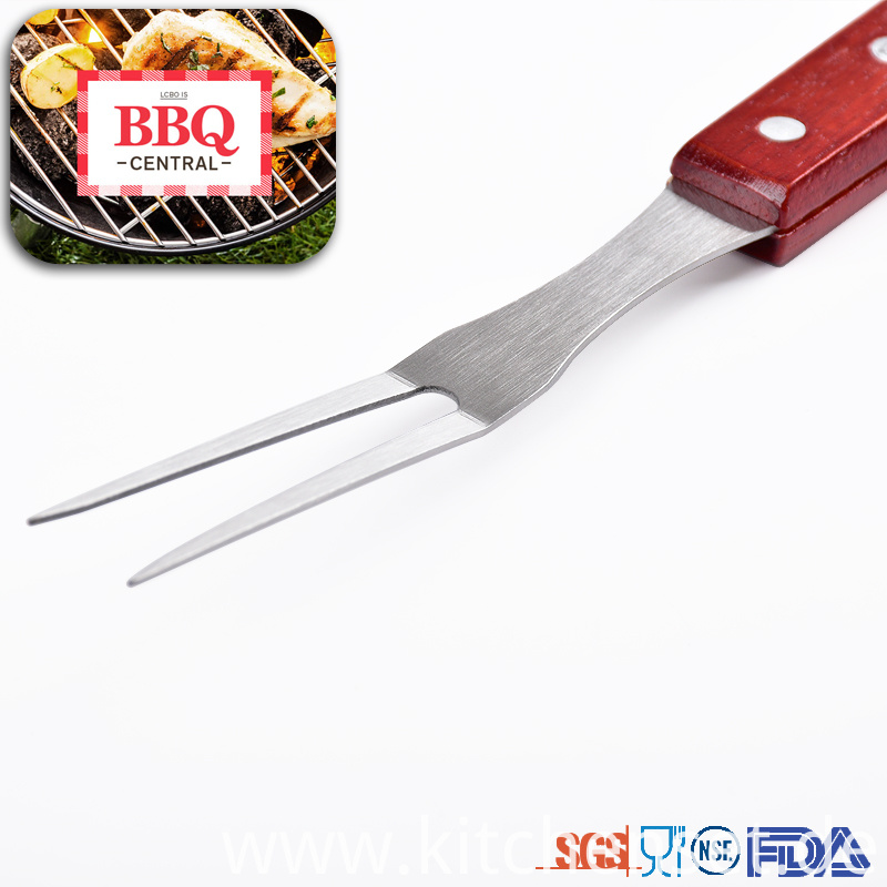 Bbq Tool Set with Wooden Handle