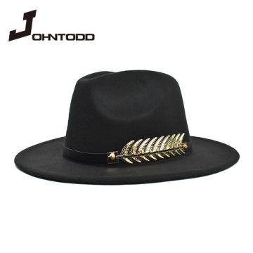 Vintage classic felt jazz fedora hat big brimmed hat cloche cowboy panama for women men men black red bowler hat and bowler hat