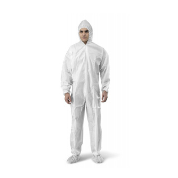 nonwoven coverall clothing protective medical use suit/full body protection suit with hood and boot