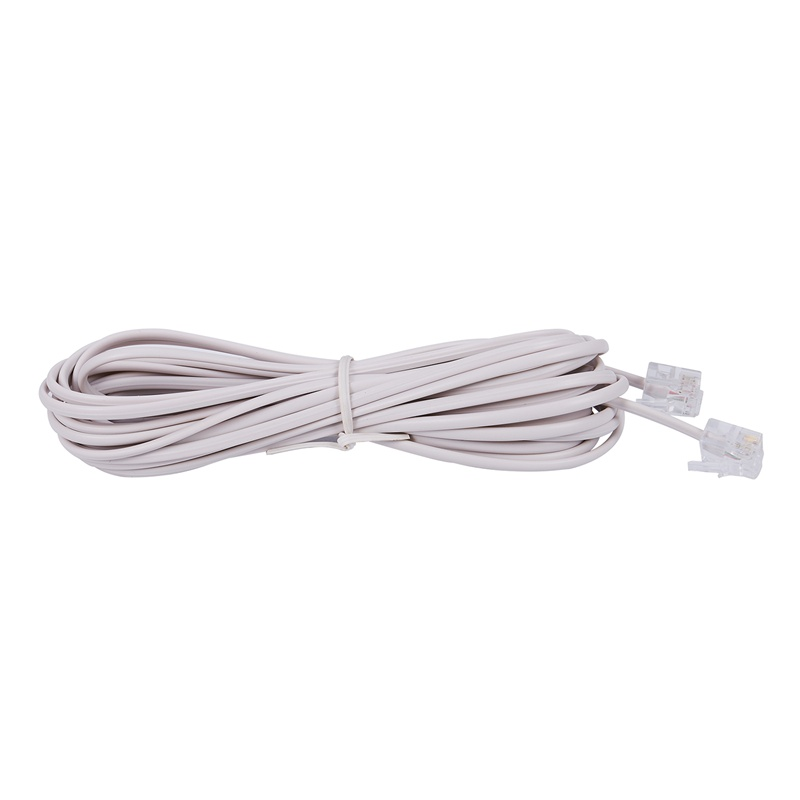 6P2C RJ11 Male to Male Plug Telephone Line Cable Wire 5M