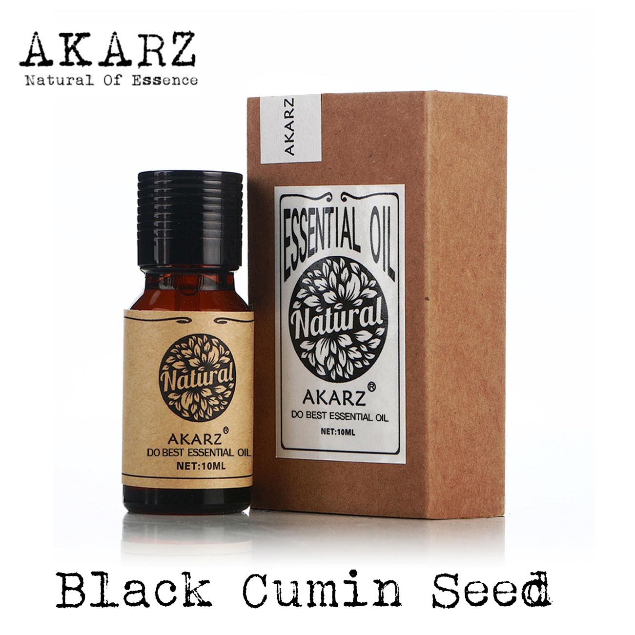 AKARZ natural Black Cumin Seed essential oil aromatic for aromatherapy diffusers body skin care aroma Black Cumin Seed oil