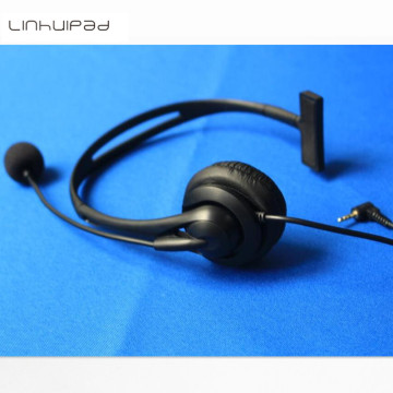 Linhuipad Manufacture Cheap Call Center Telephone Headset Noise Cancelling 2.5mm jack