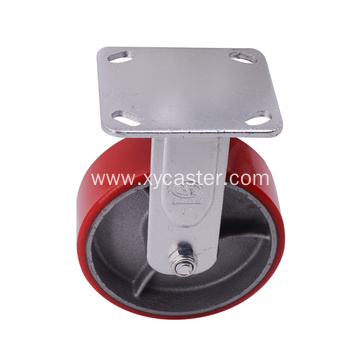 6 Inch Fixed PU Cast Iron Caster