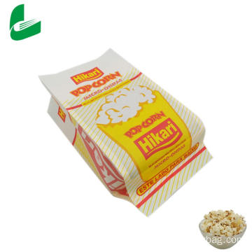 Kraft greaseproof paper microwavable bags for popcorn
