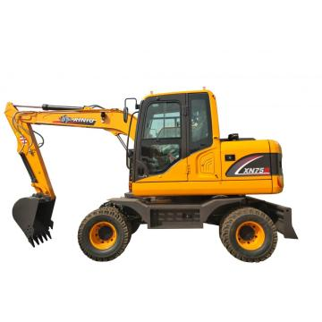 Rhinoceros 6 Ton wheel excavator 0.3 bucket wheel excavator for sale