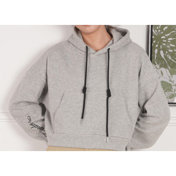 Short Design Hoodies with Solid Color