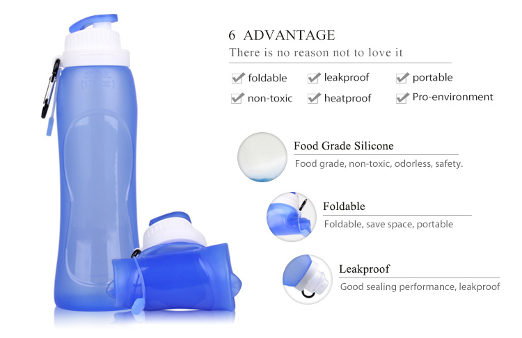 Sport Collapsible Silicone Water Bottles