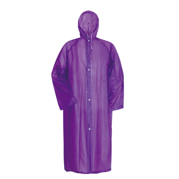 customized waterproof PVC long raincoat