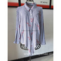 Woven fashion long sleeve ladies blouse