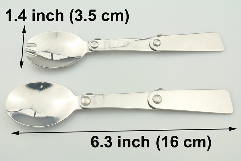 Polished Stainless Steel Folding Spoon