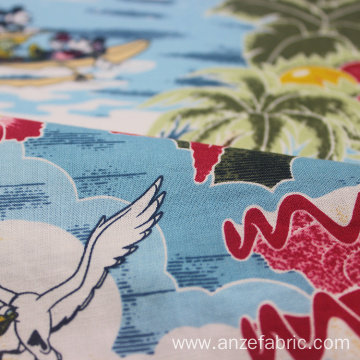 Digital Printing Poplin Fabric Cotton Rayon printed Fabric