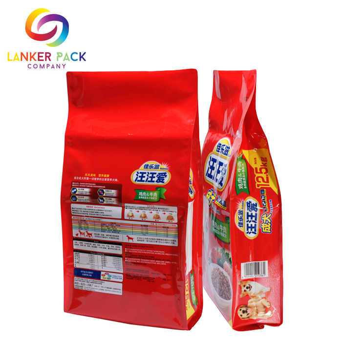 Fad Approved Zipper Gusseted Plastic For Pet Food