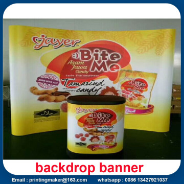 Curved Tension Fabric Display System