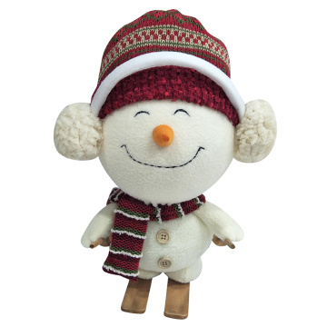 Christmas decoration sled snowman white plush