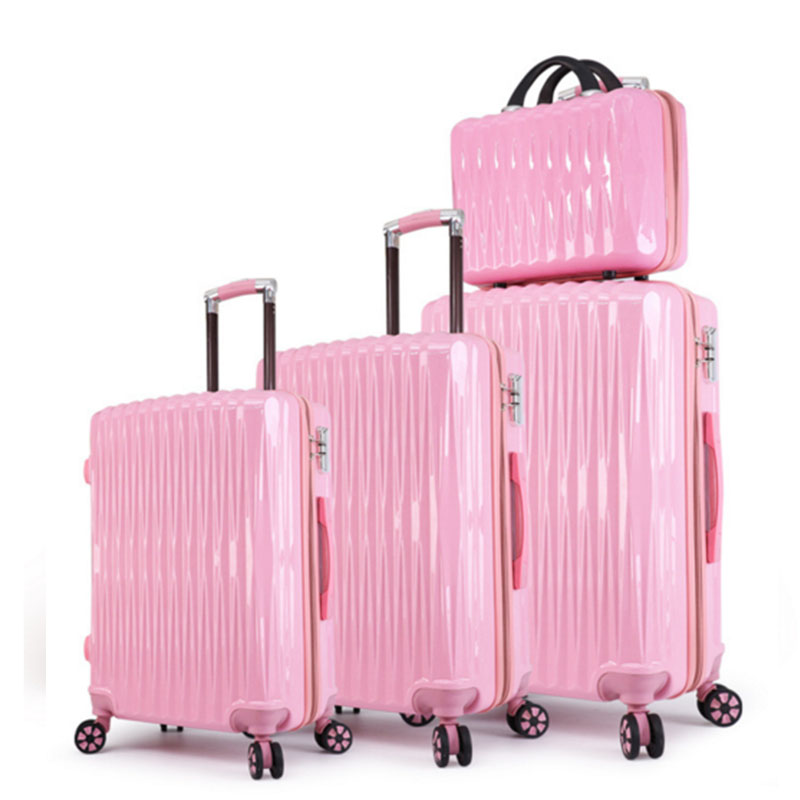 Pink luggage set