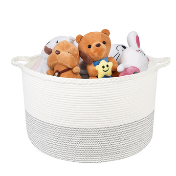 Zigzag Line Deco Portable Cotton Laundry Basket