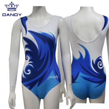 Cheap royal blue wave training leotard
