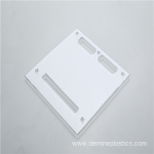 High precision clear polycarbonate sheet drilling