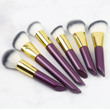Purple color makeup brush set