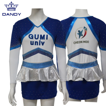 Custom Rhinestones Cheerleading Uniforms