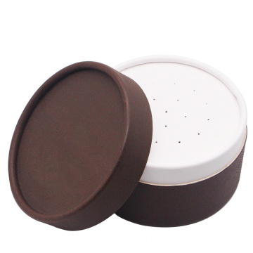 Brown  powder case paper empty compact