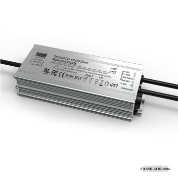 55W Constant Current Luminaire Driver