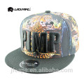Wholesale sublimation leather snapback hiphop flat cap