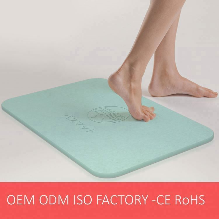 Printing Eco friendly Water Absorb Diatomite Bath Mat