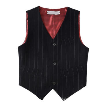 Boys' Stripe Basic Polyester Vests