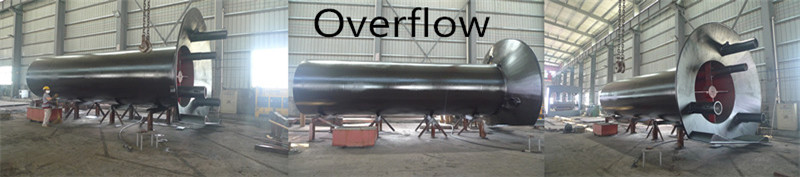 Customized black overflows pipe