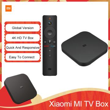 Global Version Original Xiaomi Mi TV Box S 4K HDR Android TV Streaming Media Player Google Assistant Remote Smart Mi TV Stick