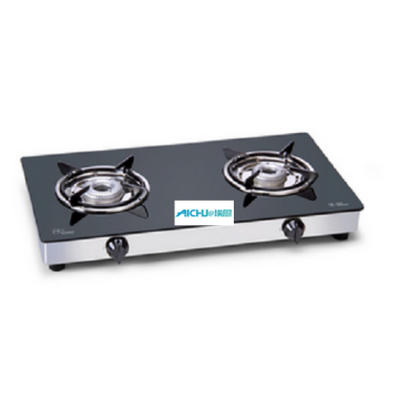 LPG Gas Glass Stove 2 Alloy Burners