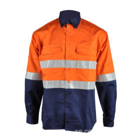 Bomull FR Hi Vis Work Safety Shirt
