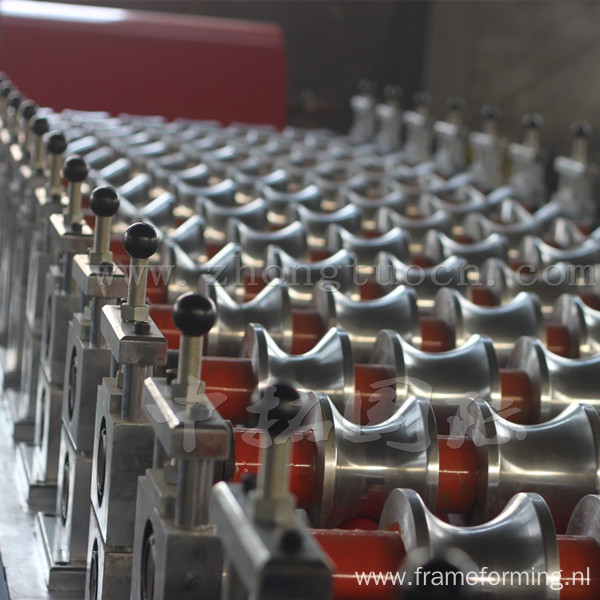 Q-tile Galvanized Aluminum Metal Corrugated Steel Sheet Roll Forming Line